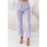 Bright Ideas Ribbed Knit Joggers (Lavender)