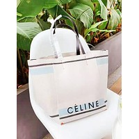 CELINE New fashion letter print canvas  shoulder bag women handbag