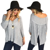 Smile Back Split Knit Top
