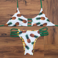 Pineapple Pattern Summer Fashion Style Lovely Women Bikini/Swimsuits/Swimwear/Beachwear = 4697445444