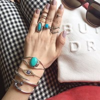 Bling Jewelry 925 Sterling Silver Southwest Style Turquoise Cuff Bracelet | Bling Jewelry