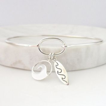 Surfer Wave Bracelet
