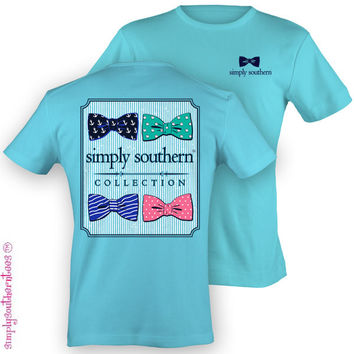 NEW Hot Gift Simply Southern Collection Cute Bow Girlie Bright T Shirt