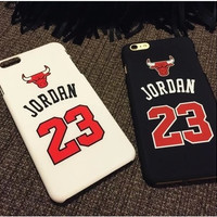 "Chicago Bulls No.23 Jordan Basketball Matte PC Case For Apple iPhone 5 5s 5SE 6 6s 4.7"" 6 plus 5.5"" Jumpman Sports Phone Cases"