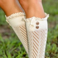 Finishing Touch Boot Cuff-Ivory