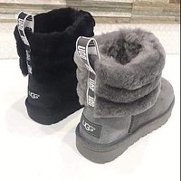 UGG 2020 fashion new women's wool circle snow boots non-slip warm shoes snow shoes
