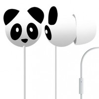 Pineapple Panda Mega Bass Earphones