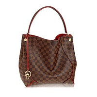 Louis Vuitton Damier Canvas Caïssa Hobo Handbag Cherry Article:N41555