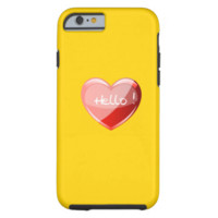 Hello! Heart On Chic Canary Yellow Background iPhone 6 Case