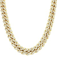 "Men's  12mm Miami Cuban Choker 18-24"" Necklace"