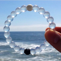 Lokai Bracelet  On Big Sale (Transparent White)