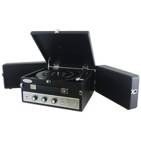 PYLE PRO PLTT82BTBK Retro-Style Bluetooth(R) Briefcase Turntable with Vinyl to MP3 Recording