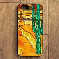 Cactus Stained Glass iPhone 5S Case