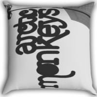 Arctic Monkeys English Rock Band Logo Zippered Pillows  Covers 16x16, 18x18, 20x20 Inches