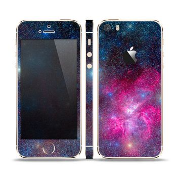 The Pink & Blue Galaxy Skin Set for the Apple iPhone 5s