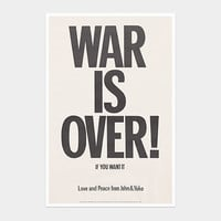 Yoko Ono: War is Over! If You Want It Poster