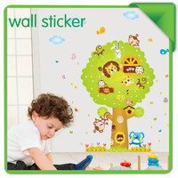 Direct Selling Bathroom Adesivos Poster Children's Room Decor Removable Tree Sticker Kindergarten Classroom Layout monkey SM6