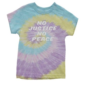 Know Justice Know Peace Youth Tie-Dye T-shirt