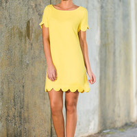 Precious Pursuits Dress, Buttercup