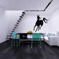 Beautiful Running Horse Gallops Animal Wall Vinyl Decal Art Sticker Home Modern Stylish Design Interior Decor for Any Room Smooth and Flat Surfaces Housewares Murals Window Graphic Bedroom Living Room (3790)