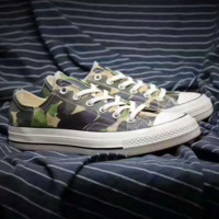 """Converse"" Fashion Canvas Flats Sneakers Sport camouflage Shoes"