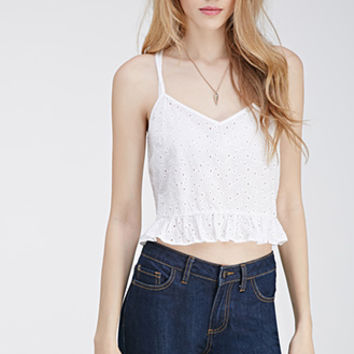 Embroidered Eyelet Cami