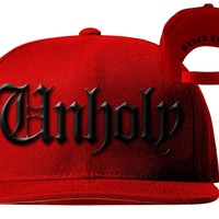 Unholy - Snapback Hat Red