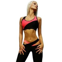 2017 Women Sleeveless Sports Yoga Workout Gym Fitness Leggings Pants Jumpsuit Athletic Clothes #GH