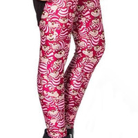 Cheshire cat leggings size XL