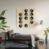 Black & White Graphic 3 Wood Wall Art by marcogonzalez