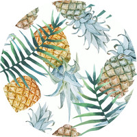 Population: Pineapple Circle Wall Decal