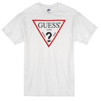 Guess Red Line Custom Men's Gildan Adult T-Shirt