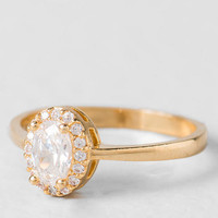 Myles Pave Oval Ring