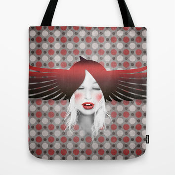 MonGhostX - Close, Fly, dreams... of a free world ! Peace. Tote Bag by LilaVert