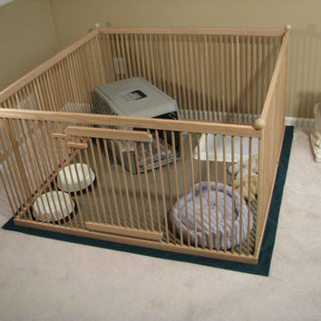 """A Distinctive """"Home within a Home"""" Exercise Pen - READY-TO-FINISH Solid Red Oak w/Floor"""