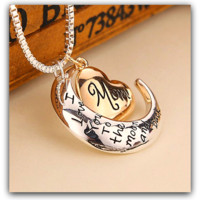 """High Quality! Mom - I Love You to the Moon and Back Necklace for Mother's Day """"FREE SHIPPING"""""""