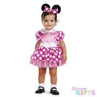 Toddler Girl's Costume: Minnie Mouse, Pink-12-18 Months