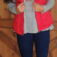 Red Military Vest