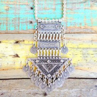 TURKISH SILVER ➳ SHANKARA STATEMENT NECKLACE