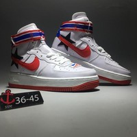 """Riccardo Tisci x Nike Air Force 1 RT"" Unisex Sport Casual Fashion Pentagram High Help Plate Shoes Couple Sneakers"