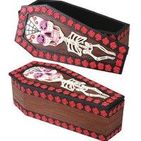Skeleton Coffin Theme Box, Day of the Dead