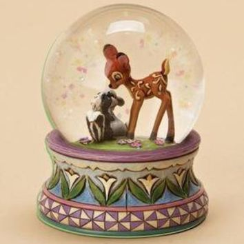 Disney Traditions 4015347 Bambi Waterball Blooming Friendship Snow Globe NEW