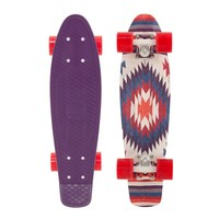 """Penny 22"""" Holiday Aztec Purple/White/Red Mini Longboard Complete"""