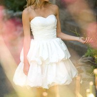 $588.00 Isis  Cocktail Length Wedding Dress by TheLittleWhiteDress on Etsy