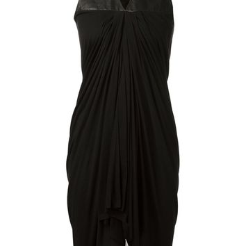 Rick Owens Lilies leather panel dress