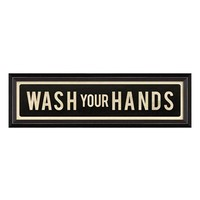 Spicher and Company 'Wash Your Hands' Vintage Look Sign Artwork
