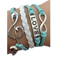 Mint Music Love Arm Party Bracelet