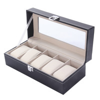 5 Grid Luxury Refinet Slots Watches Display Case Jewelry Collection Storage Organizer Boxes