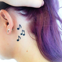2 Music Lover Temporary Tattoos- SmashTat - Stocking Stuffer