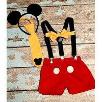 Boys Mickey Mouse Cake Smash, Boys 1st Birthday Outfit, Mickey Mouse Birthday
